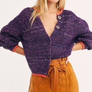 Free people walk on by knit cardigan sweater